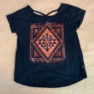 girls lucky brand t-shirt with cross on back